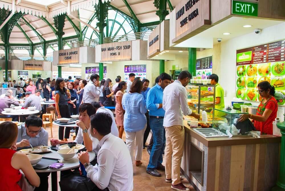 Singapore, food court
